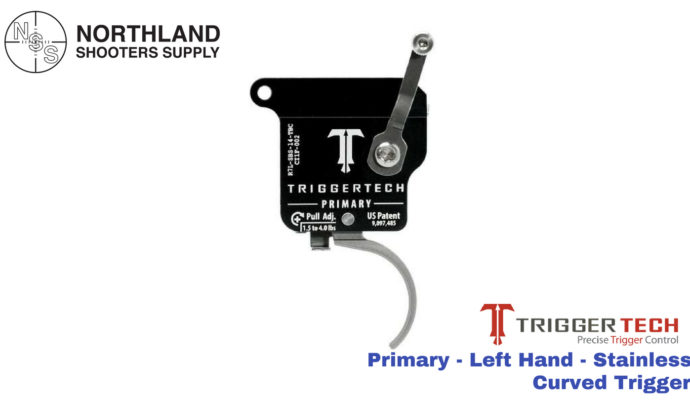 Triggertech Primary - Left Hand - Stainless - Curved Trigger