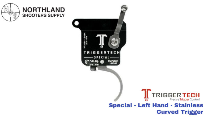Triggertech Special - Left Hand - Stainless - Curved Trigger