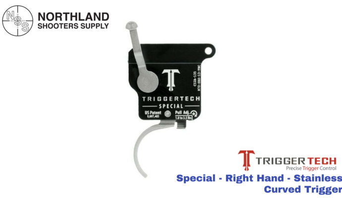 Triggertech Special - Right Hand - Stainless - Curved Trigger