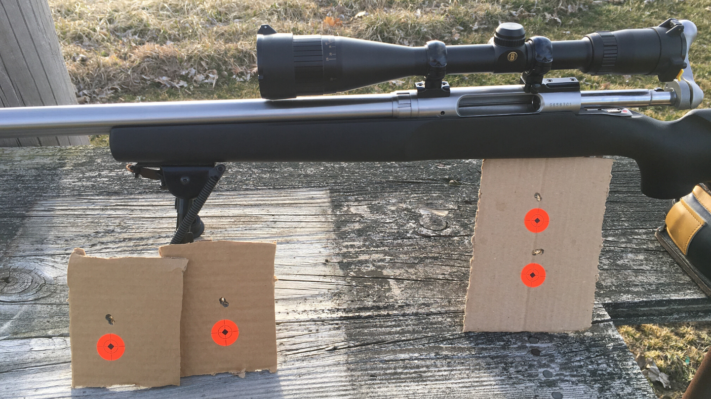 Mike H. of Indiana shared his first groups with his 6BR Norma Shilen Rifle purchased from Northland Shooters Supply
