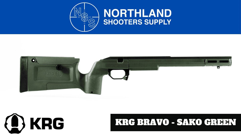 Kinetic Research Group (KRG) Bravo Chassis - Sako Green