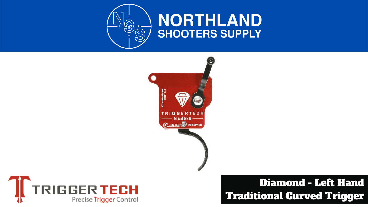 Northland Shooters Supply (NSS) has TriggerTech Diamond Left Hand Traditional Curved Triggers