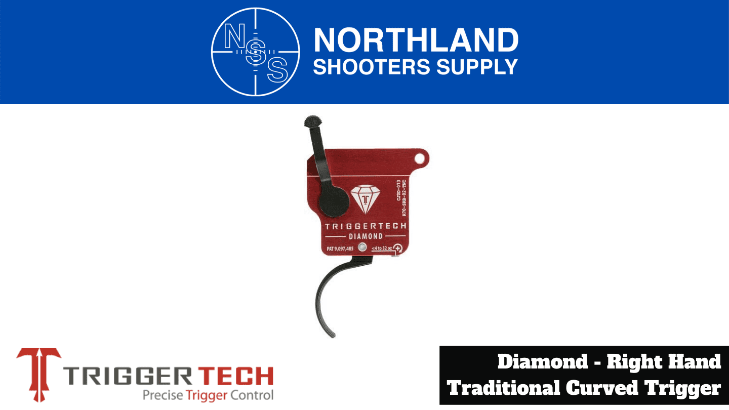 Northland Shooters Supply (NSS) has TriggerTech Diamond Right Hand Traditional Curved Triggers