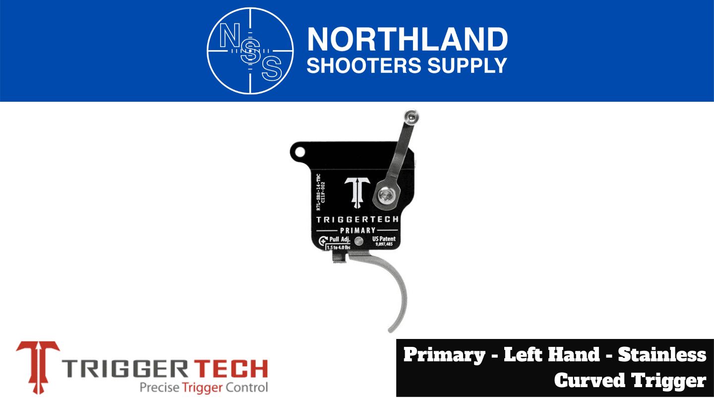 Northland Shooters Supply (NSS) has TriggerTech Left Hand Stainless Curved Trigger
