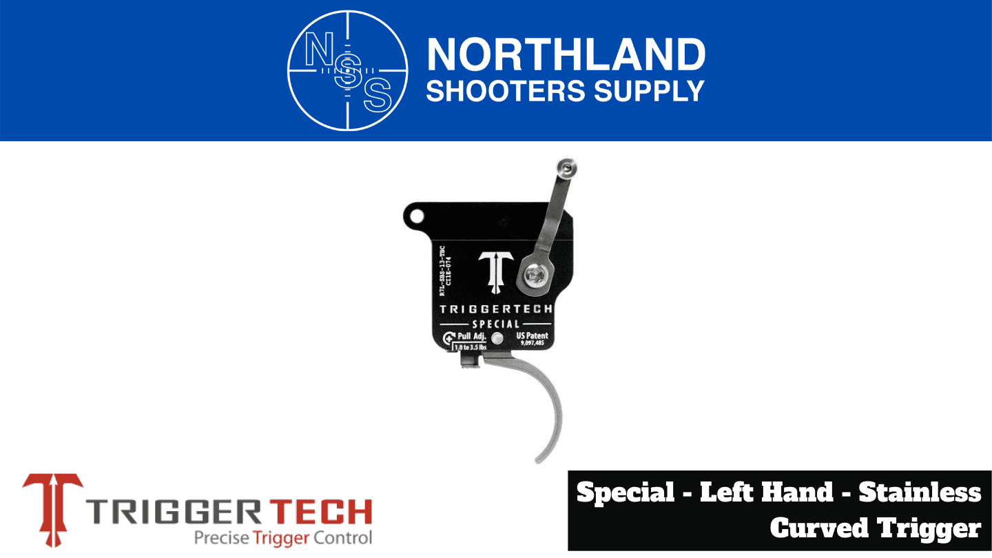 Northland Shooters Supply (NSS) has TriggerTech Special Left Hand Stainless Curved Trigger