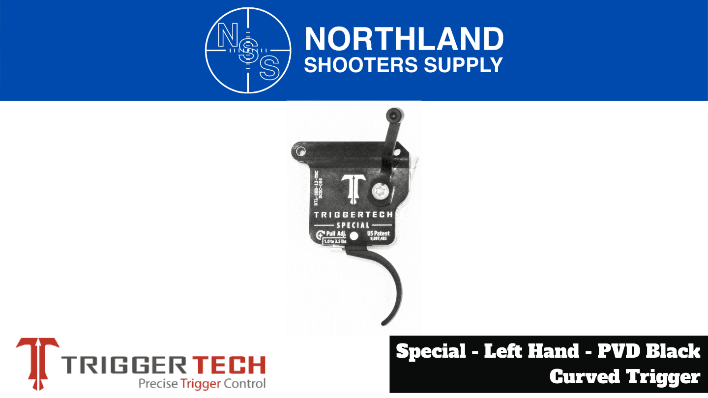 Northland Shooters Supply (NSS) has TriggerTech Special Left Hand Black Curved Trigger