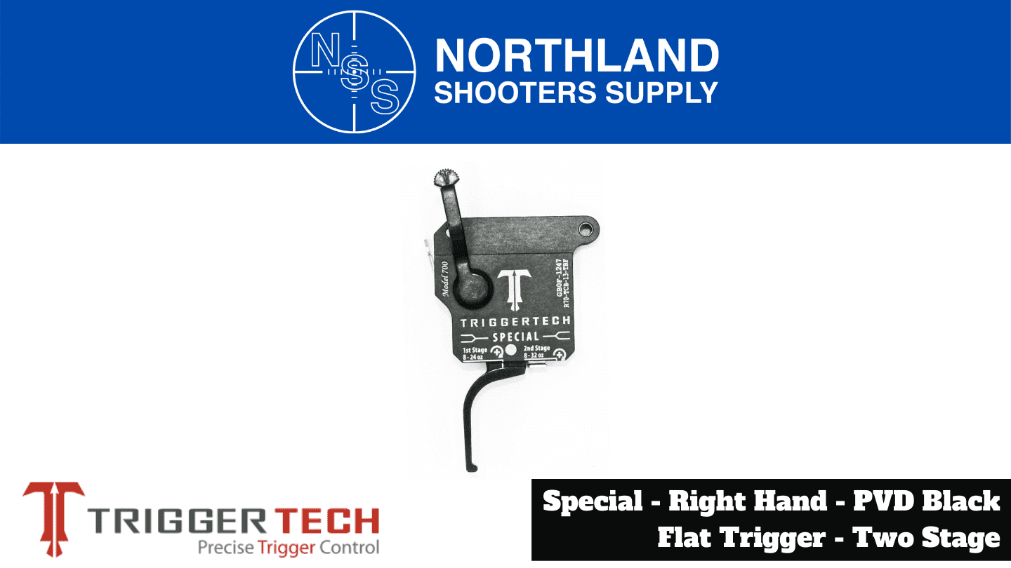 Northland Shooters Supply (NSS) has TriggerTech Special Right Hand PVD Black Flat Trigger Two Stage