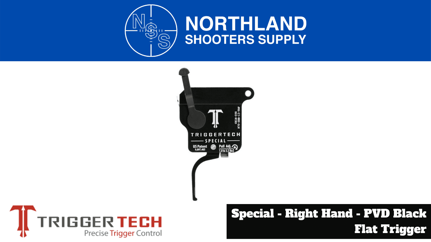 Northland Shooters Supply (NSS) has TriggerTech Special Right Hand PVD Black Flat Trigger