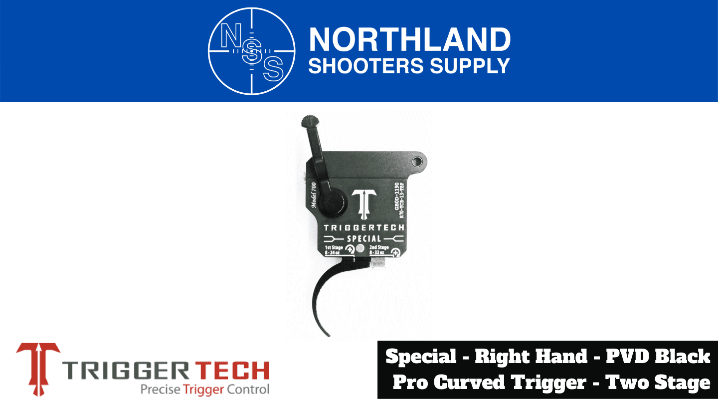 Northland Shooters Supply (NSS) has TriggerTech Special Right Hand PVD Black Pro Curved Trigger Two Stage