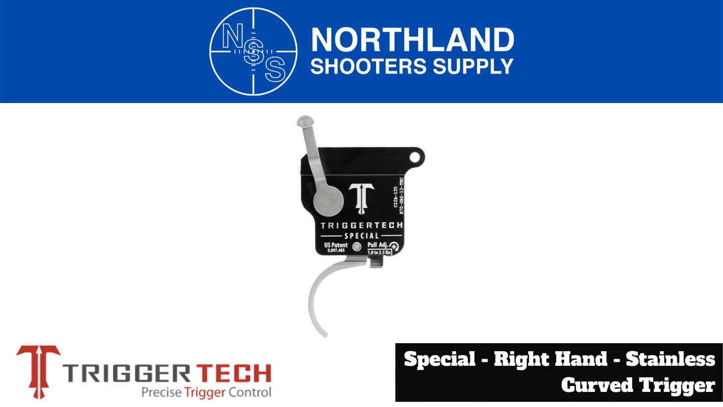 Northland Shooters Supply (NSS) has TriggerTech Special Right Hand Stainless Curved Trigger