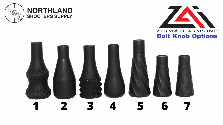 Zermatt Arms Bolt Knob Options